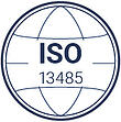 ISO's stamp that explain how QualityKick is a QMS that complies with 13485 ISO.