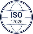 ISO's stamp that explain how QualityKick is a QMS that complies with 17025 ISO.