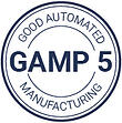 Gamp 5's stamp that explain how QualityKick is a QMS that complies with good automated manufacturing