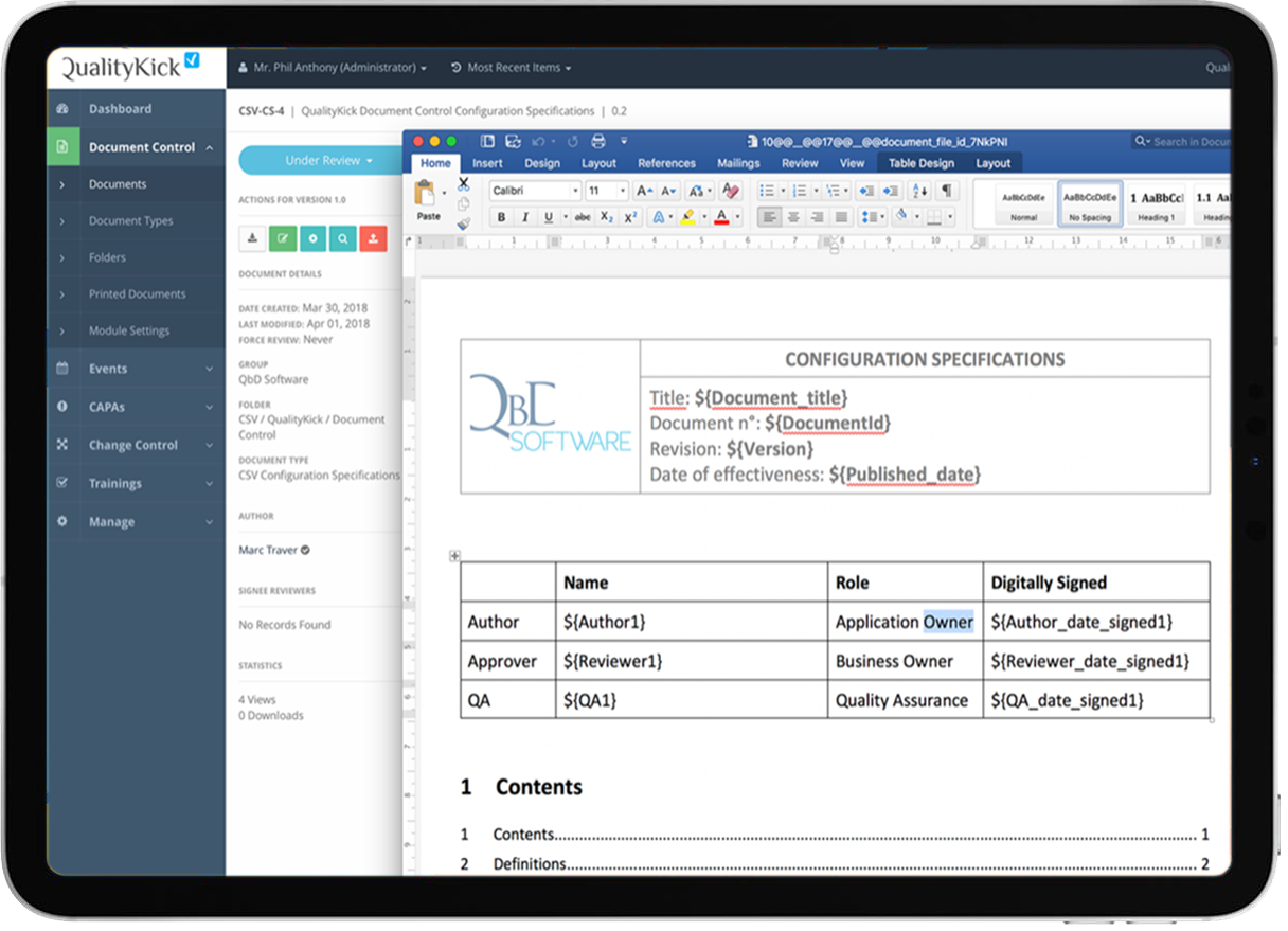 QualityKick - Quality Management Software